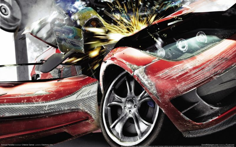 video games crash Burnout Paradise racing wallpaper