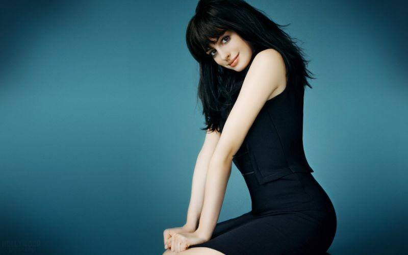 women Anne Hathaway American actress models celebrity simple background wallpaper