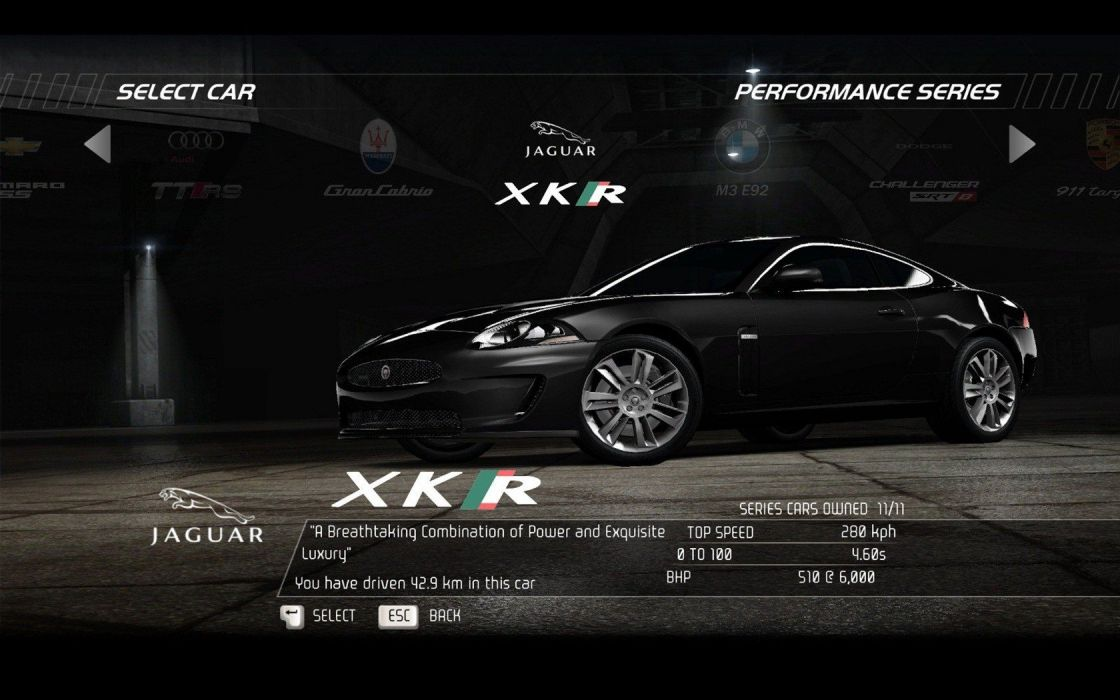 video games cars Jaguar XKR Need for Speed Hot Pursuit pc games wallpaper