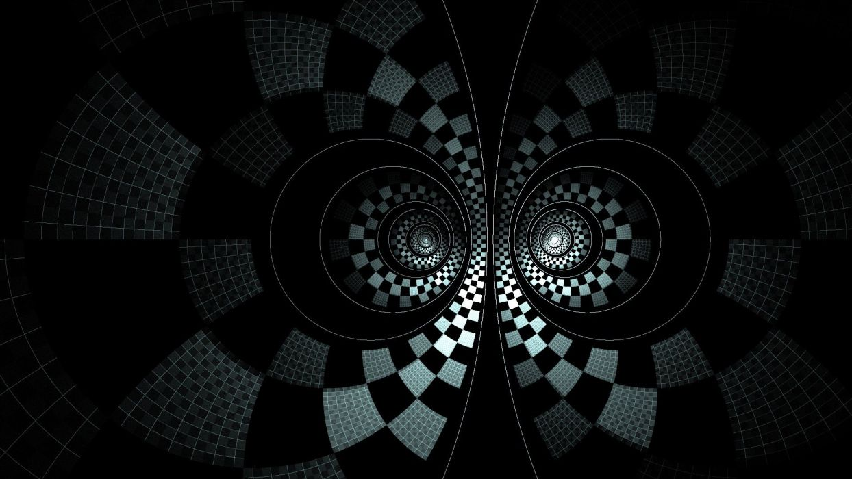 abstract grayscale spirals wallpaper