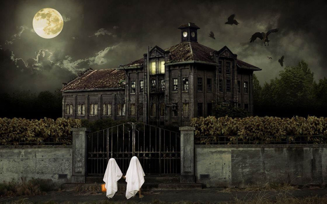 Halloween scary house F_E_A_R_ Fear Itself wallpaper