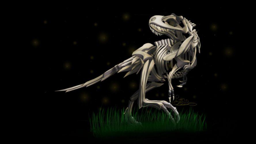 dinosaurs skeletons Tyrannosaurus Rex wallpaper