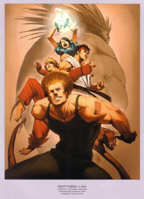 video games Street Fighter artbook artwork wallpaper