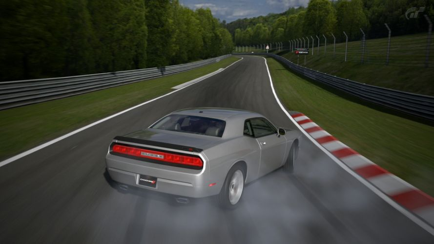 video games cars Gran Turismo 5 Dodge Challenger SRT8 Playstation 3 wallpaper