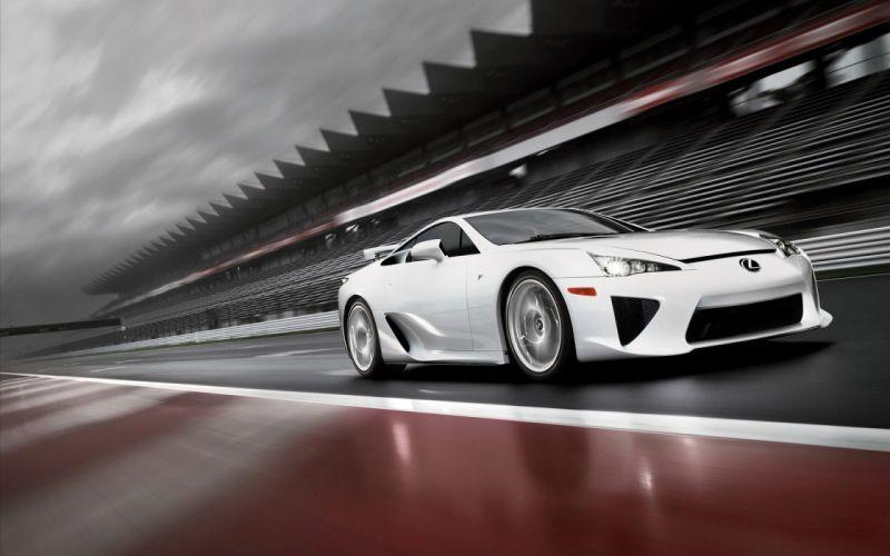 Japan cars Lexus Lexus LFA white cars wallpaper