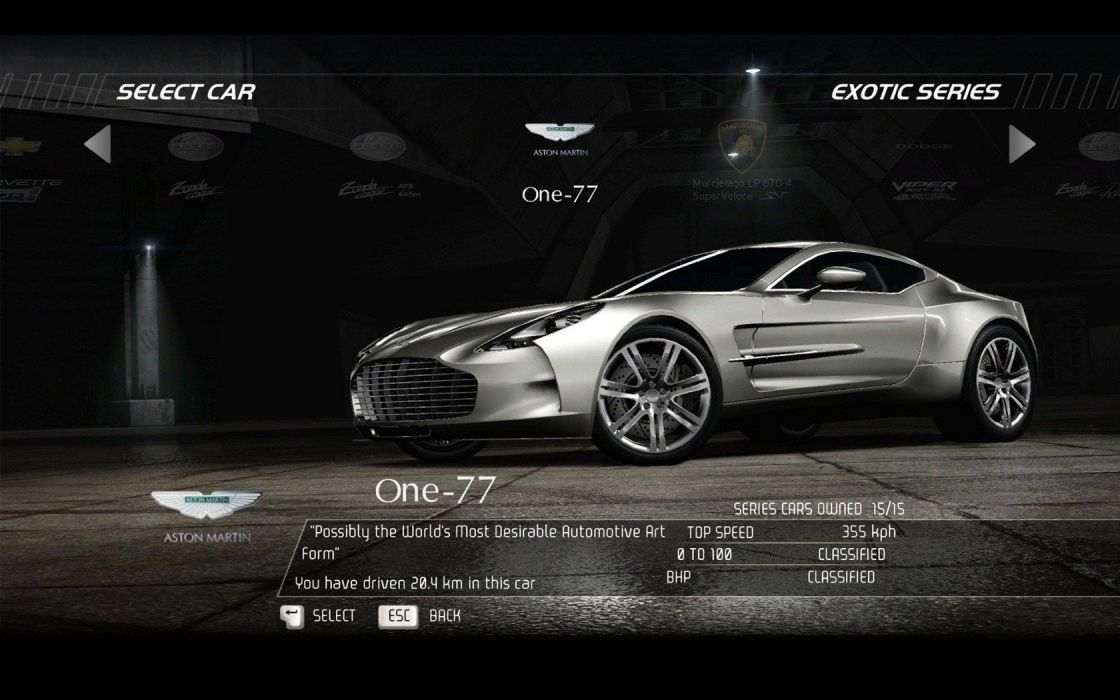 Video Games Cars Aston Martin One 77 Need For Speed Hot Pursuit Pc Games Wallpaper