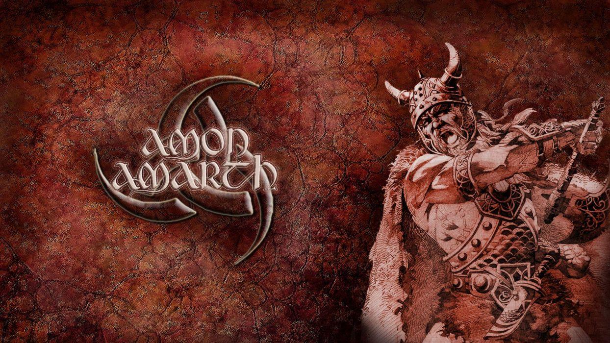 Amon Amarth Warrior Helmet Music Fantasy death metal heavy wallpaper