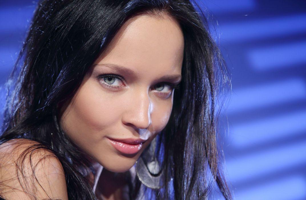 Angie C brunette model wallpaper