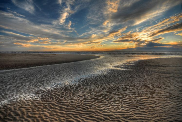 beach nature landscape sea scenery sky sunset sky ocean wallpaper
