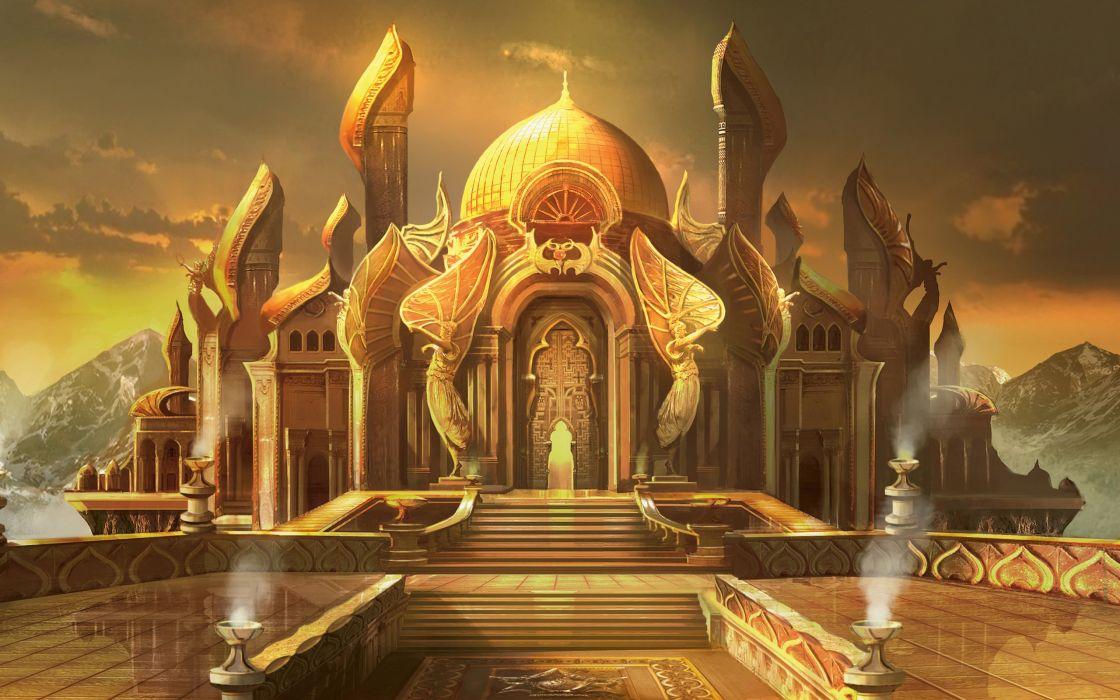 castle Magic The Gathering Fantastic world Palace Games fantasy wallpaper