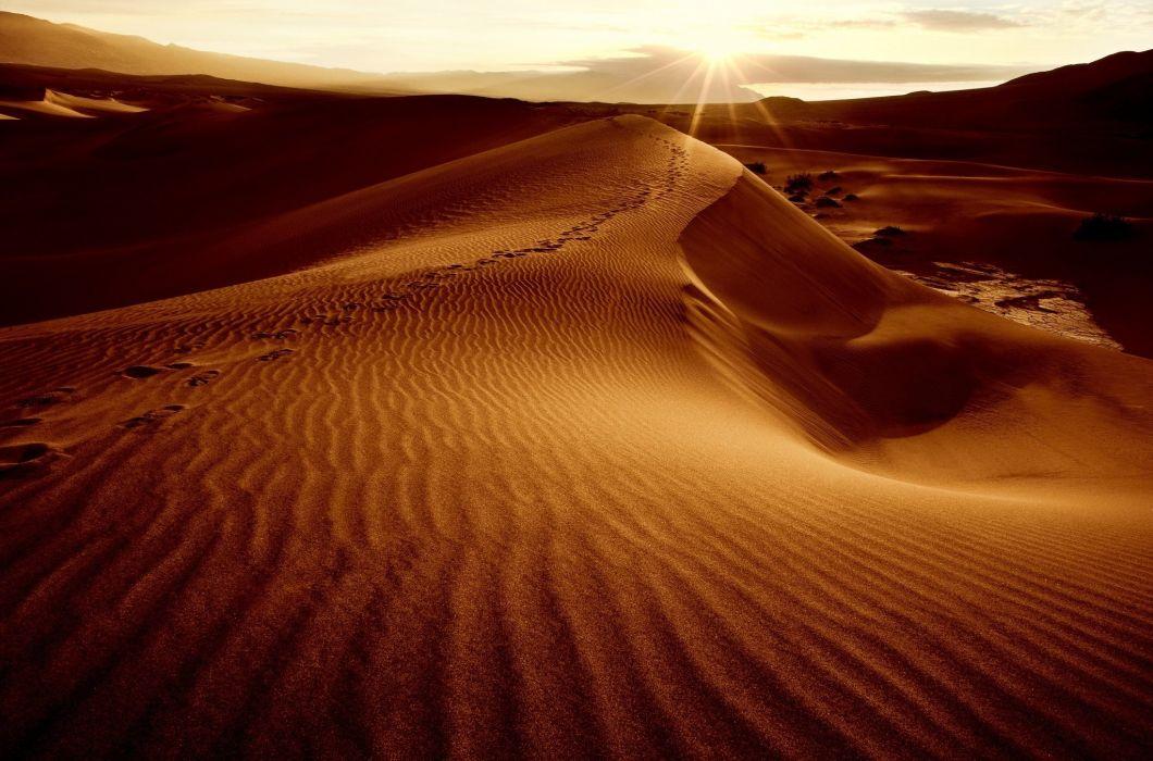 desert sand dunes dunes sun sky landscape wallpaper