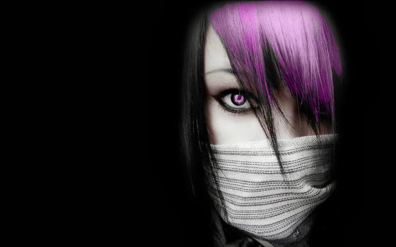 Purple Emo Girl wallpaper