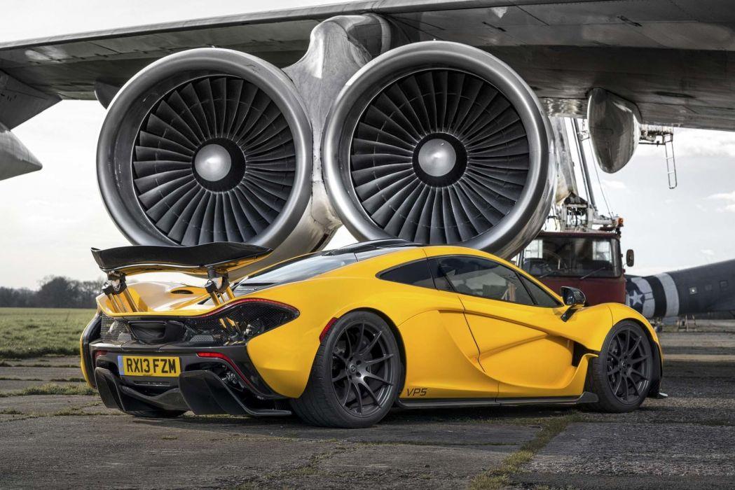 Engine Airplane McLaren P1 Yellow Supercar Wallpaper