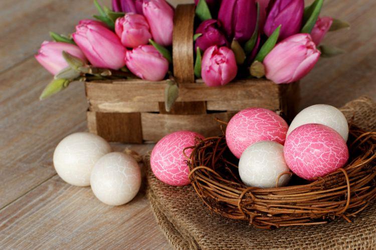 flower easter eggs wallpaper