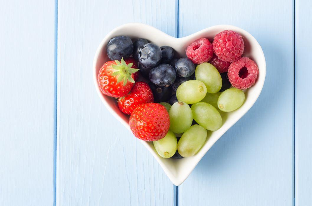 food berries strawberries blueberries bokeh wallpaper