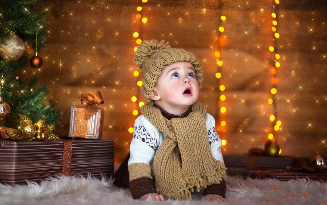 gifts cap child new year baby child kids wallpaper