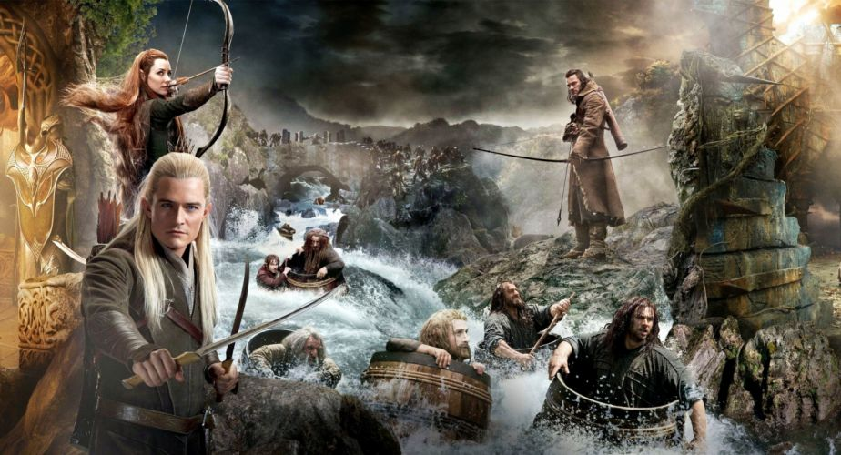 hobbit lotr lord rings fantasy warrior collage poster wallpaper