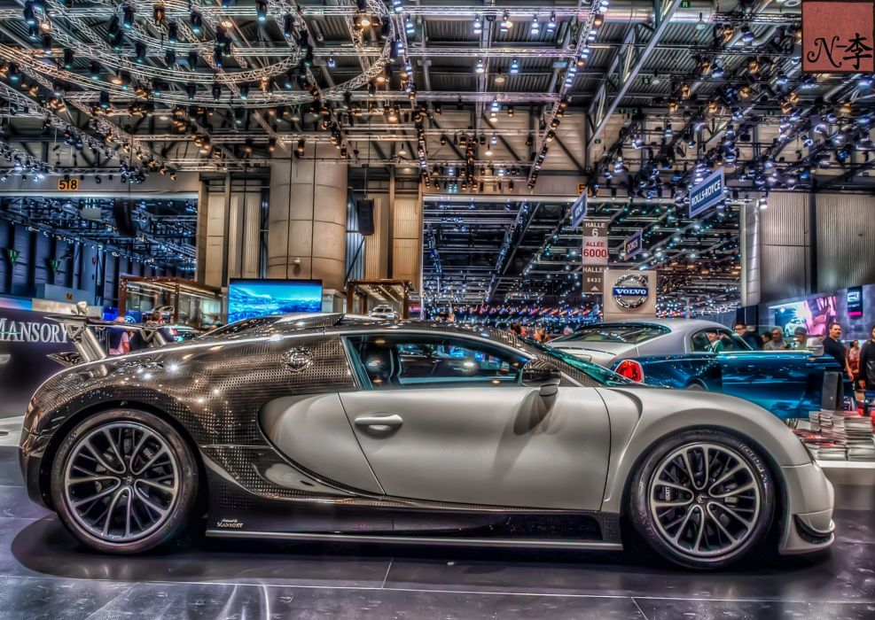 hdr bugatti veyron vivere supercar wallpaper