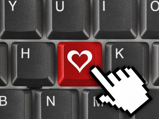 Keyboard Closeup Heart Computer wallpaper