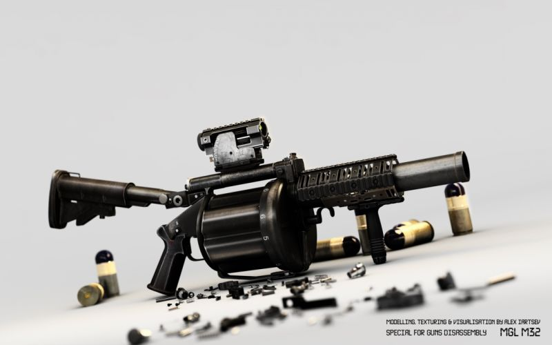 mgl m32 machine gun weapon military police wallpaper