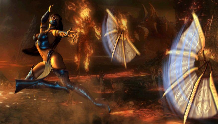 Mortal Kombat Skarlet Games Girls Fantasy warrior weapon wallpaper