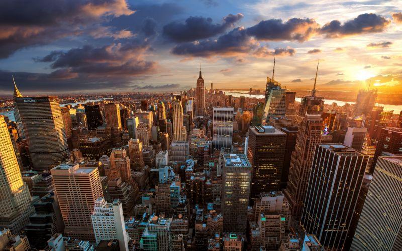 new york nyc cityaeYaeY dawn skyscrapers wallpaper