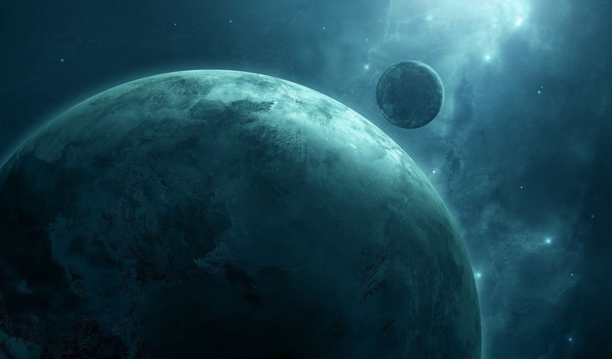 planet stars space art artwork wallpaper