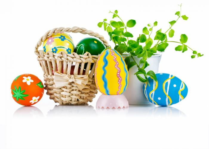 plant Holidays Easter Wicker basket Eggs wallpaper