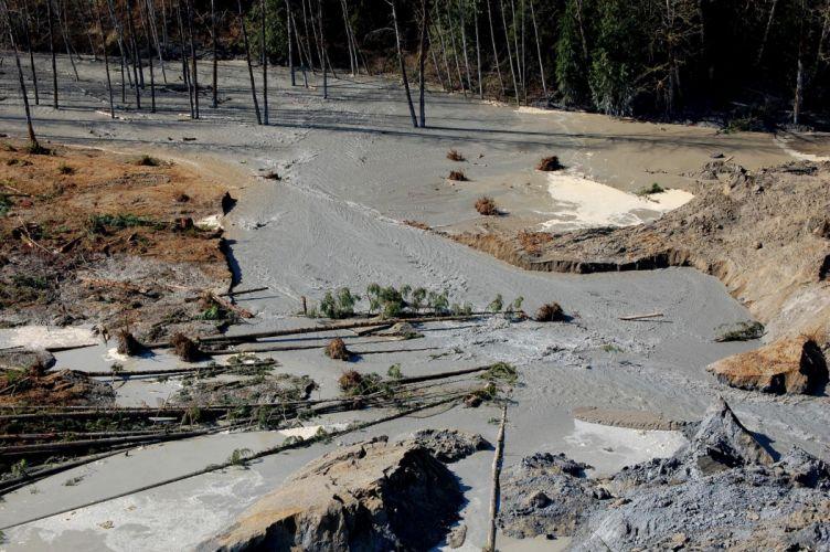 river Snohomish Mudslide landslide nature natural disaster landscape forest wallpaper