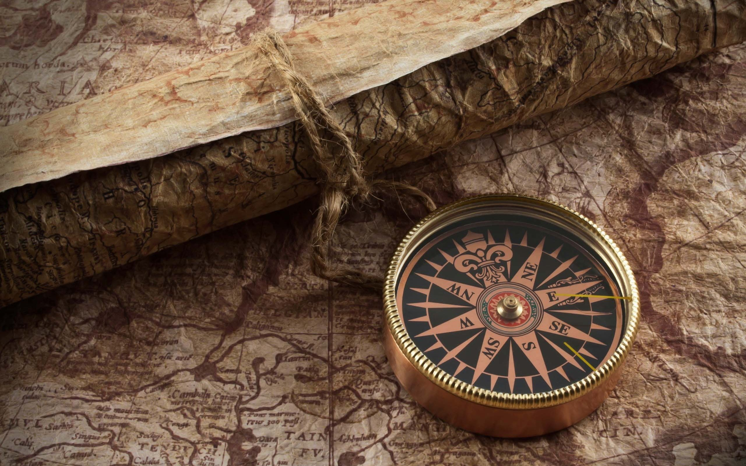 Cheap Vintage Foto Wallpaper Fondo De Pantalla: Retro Compass Map Wallpaper Bechevka Wallpaper