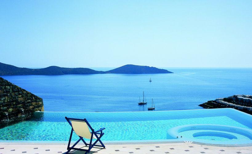 sea aeYaeYview pool relax yachts vacation ocean tropical pool wallpaper
