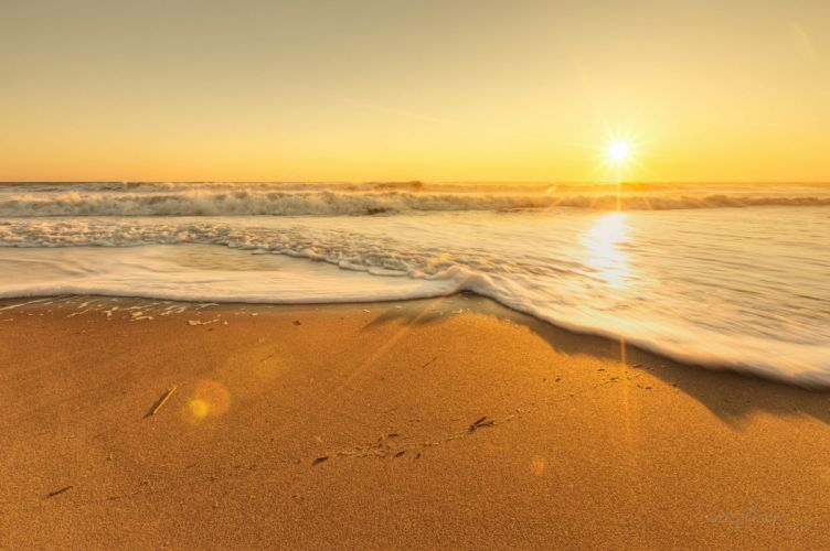 sea beach scenery sky landscape ocean nature sunset wallpaper