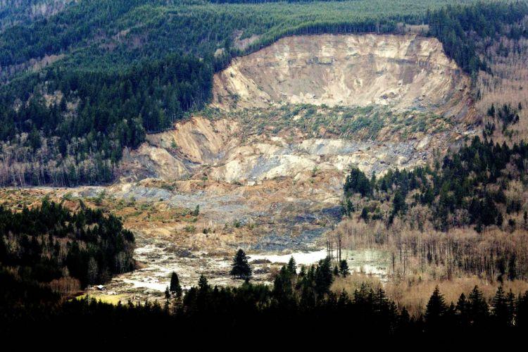 Snohomish Mudslide landslide nature natural disaster landscape forest f wallpaper