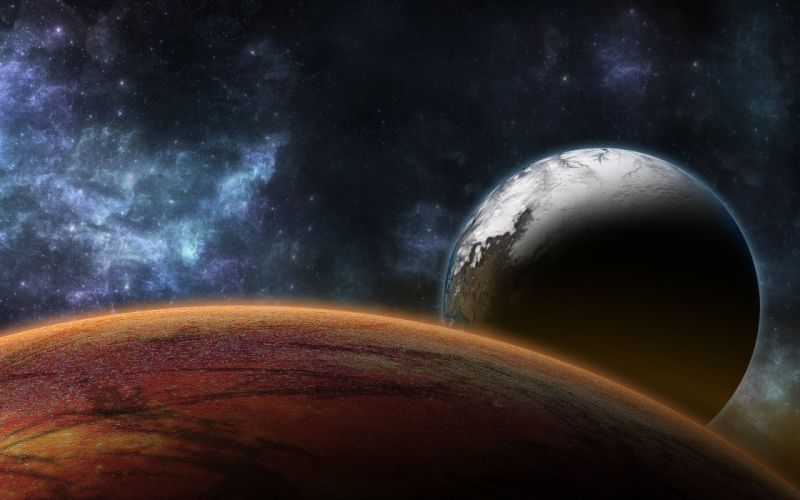 surface planet stars space wallpaper