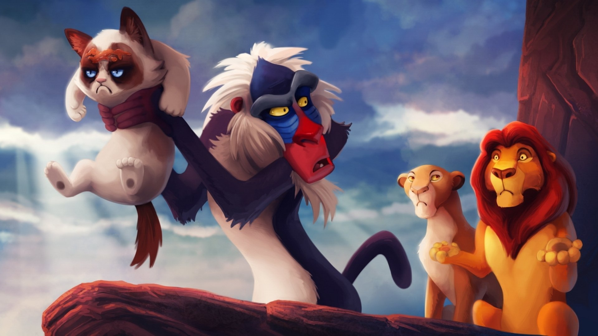 The Lion King Cartoons Monkey Wallpaper 1920x1080 309985 Wallpaperup