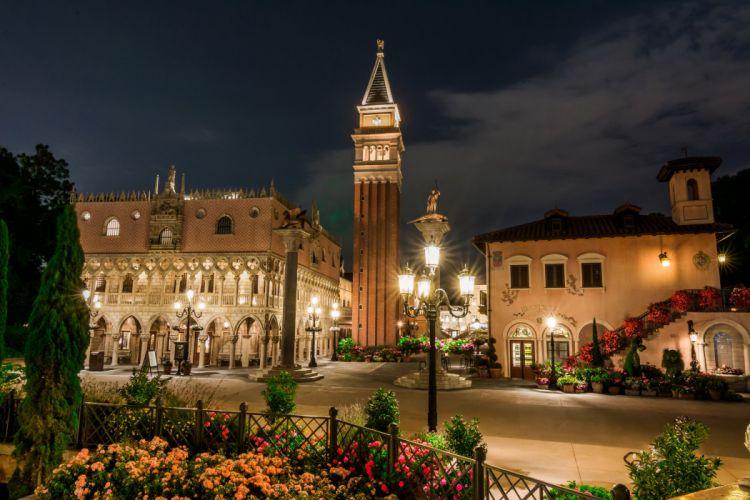 USA Disneyland Parks Houses HDR California Anaheim Design Night Street lights wallpaper
