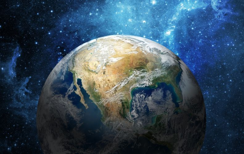 universe planets stars space earth sci-fi wallpaper