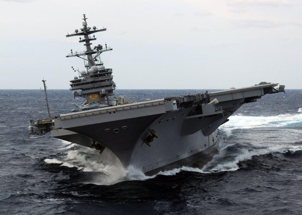 uss cvn-77 military navy usa aircraft carrier ship boat ocean sea wallpaper