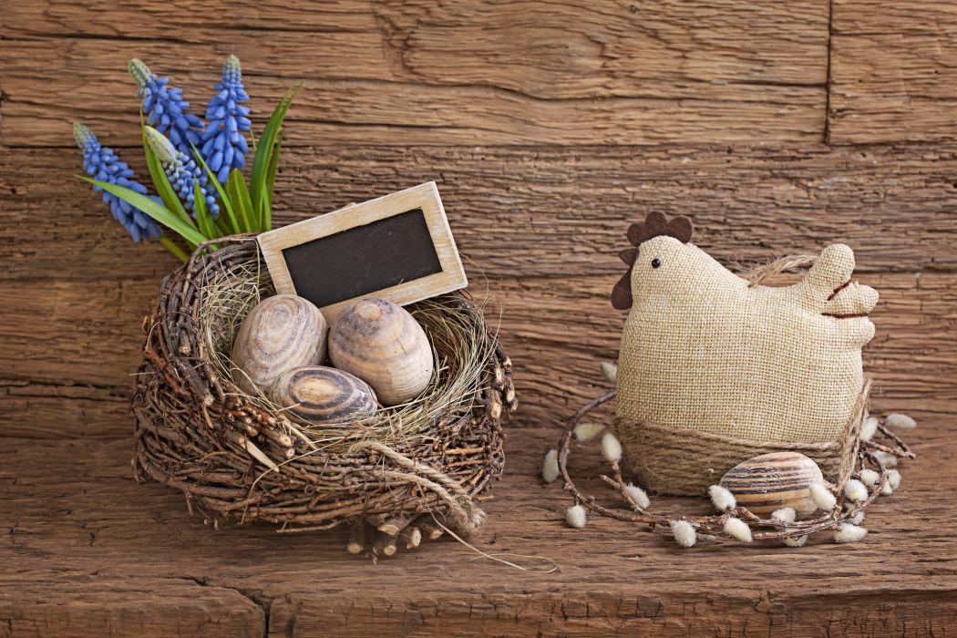 wood chicken rustic Easter Eggs wallpaper