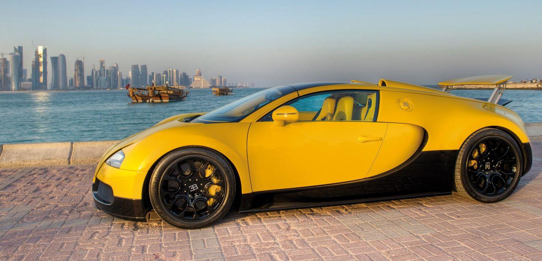 yellow bugatti veyron supercar grand sport wallpaper