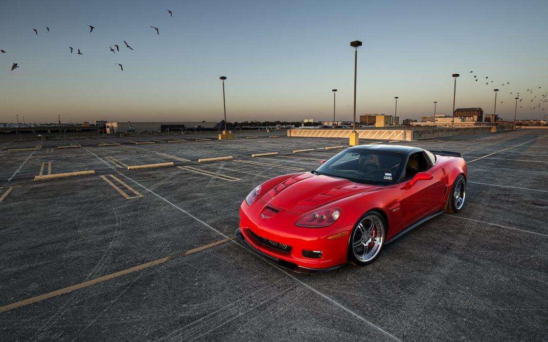 z06 chevrolet corvette supercar red wallpaper