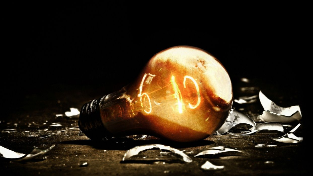 abstract lights broken light bulbs wallpaper