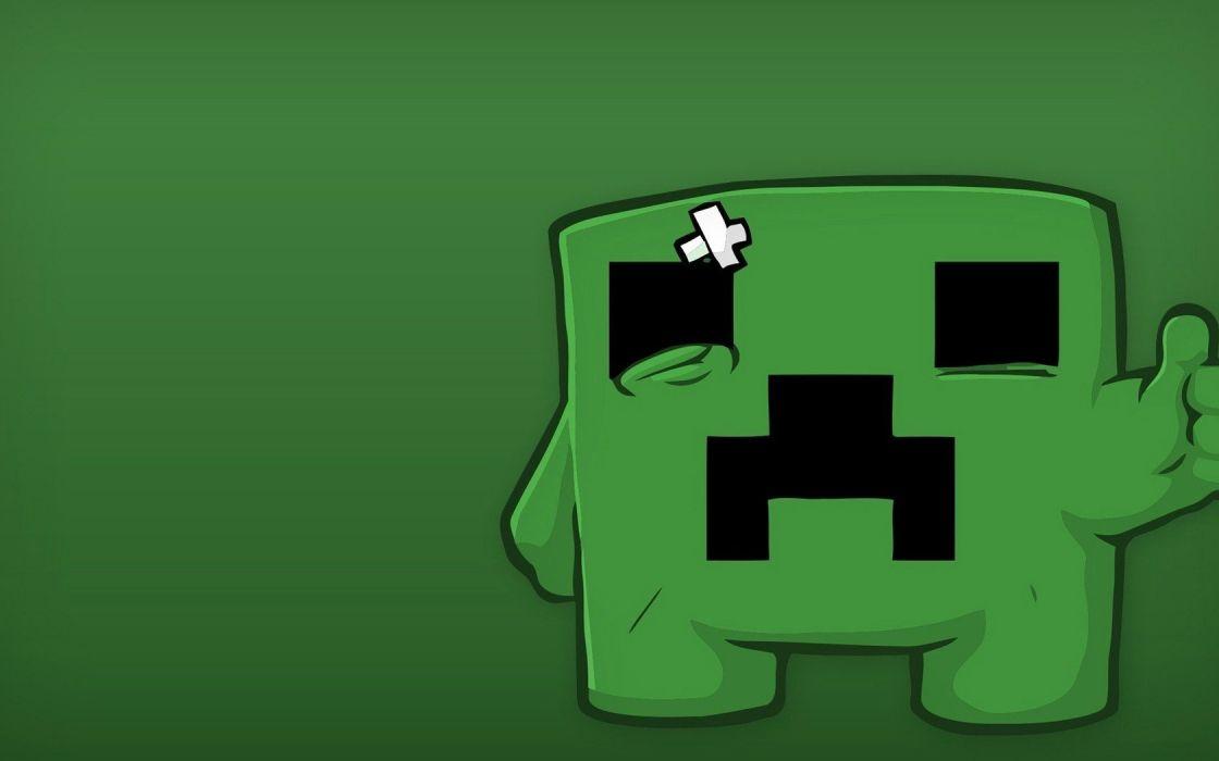 creeper Minecraft crossovers Super Meatboy wallpaper