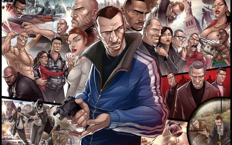 video games Grand Theft Auto Patrick Brown GTA IV wallpaper