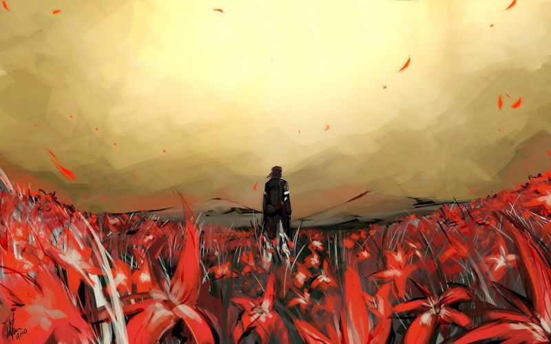 flowers Metal Gear Solid artwork wallpaper