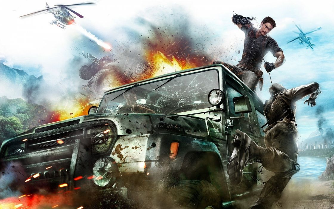 video games Just Cause games Just Cause 2 wallpaper