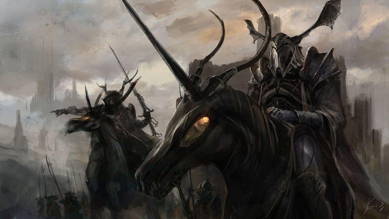 dark shadows fantasy art Kai Lim wallpaper