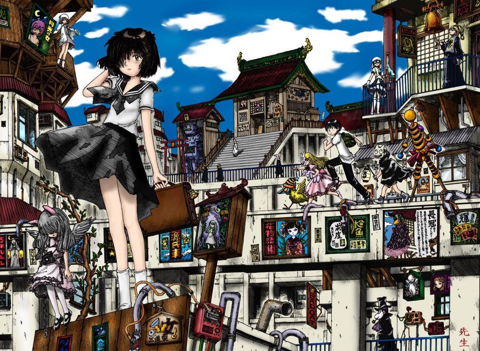 school uniforms Mysterious Girlfriend X Urabe Mikoto wallpaper