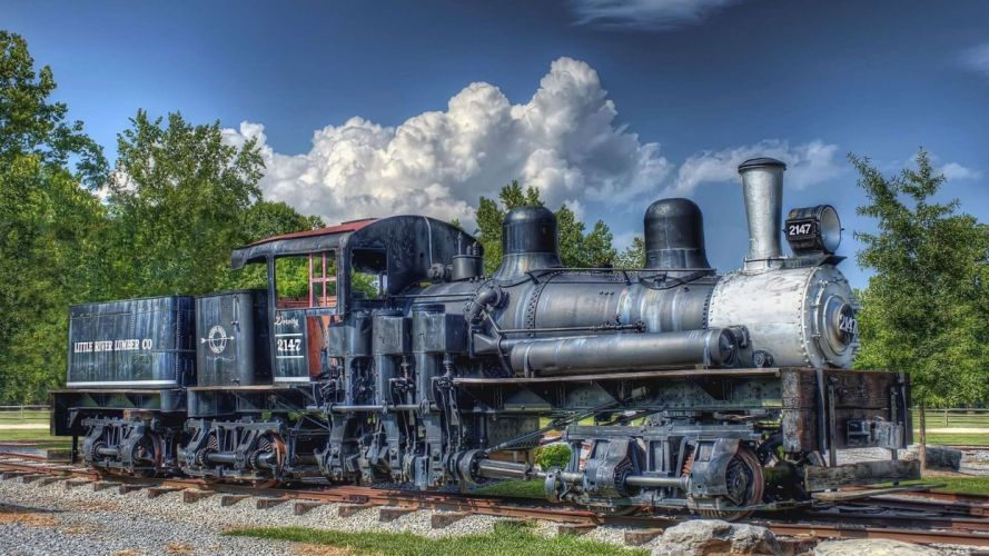 trains HDR photography wallpaper