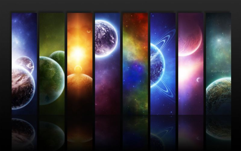 planets panels wallpaper